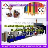 PP PE plastic ball pen tube machine / ball point pen refilling tube/ plastic pencil production line