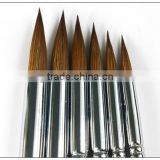 Transon 168 six pieces a setred handle point head weasel hair artist paint brush wooden handle