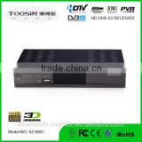 factory directory HD 1080p support wifi internet 3G dongle IPTV powervu Satellite decoder dvb s2 set top box