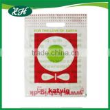 Christmas wholesale 100% biodegradable and compostable die cut plastic custom printed corn bags biodegradable