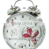 silvery-1 bell clock,table clock