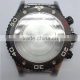 wrist watch case parts watch case waterproof chronograph black 45mm watch stainless steel case