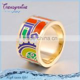 New design wide stainless steel enamel ceramic raschig ring
