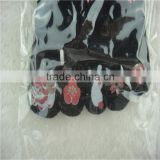 model cotton dress black color with flower design socks with toe classical style