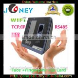 "4.3"" TFT color&touch screen facial & fingerprint time attendance and access control machine"