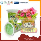 fruit jelly juice drink with coconut piece