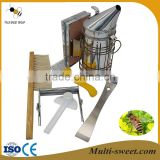 Basic Beekeeping Tools Kit -6 Pcs Bee Hive Smoker /Bee Brush /Hive Tool /Uncapping Fork /Bee Feeder