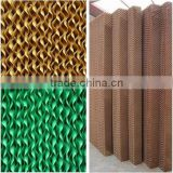 Brown/green black coated-single side(washable) evaporative cooling pad for greenhouse farming shed