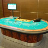 Classic Casino Baccarat Table , Rosewood 9 Seat Craps Table
