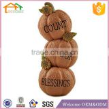 Factory Custom made best home decoration gift resin polyresin carving pumpkins wholesale
