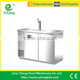 Stainless stee direct draw beer dispenser with double door machine