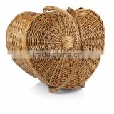 wholesale heart shape wicker basket with handle, wicker basket made in China