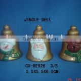 pottery jingle bell for christmas gifts