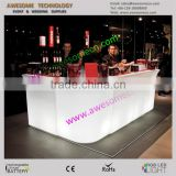 led lighting color changing L-shape bar counter for club reception (BC110)