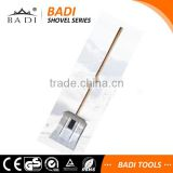 long wooden handle aluminum head shoveling snow