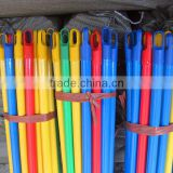 factory custom PVC coated wooden threaded rod for broom and mop