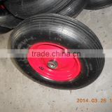 4.00-8 Pneumatic Rubber wheel with plastic hub