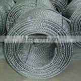 6*7 Galvanized steel wire ropes