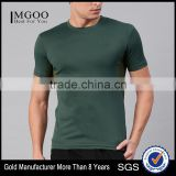 Men Green Solid Custom Color Round Neck T-Shirt Customize Mens Sports Bodybuild Tops Pure Polyester Always Fresh Running Tee