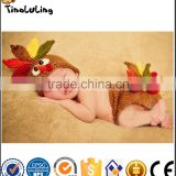 Tinaluling Wholesale Hot Sale Cute Crochet Knitting Baby Hats Sets For Baby Photography Props
