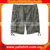 2013 OEM hot sale popular 6 pockets cotton plain loose camouflage baggy cargo shorts for men