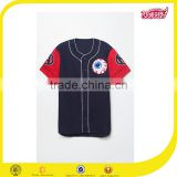 New arrival streetwear clothing china custom cycling / baseball navy blue jersey