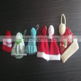 Decoration Plush Toy's Stuff Knitted Hat Christmas Mini Small Hat and Scarf