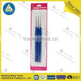 Knitting needle type single headed steel material zinc plated plastic handle crochet hook