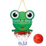 Children's sports toy cartoon basketball board indoor hanging mini basketball frame hoop for kids