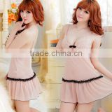 100% nylon apricot sexy lingerie sleepwear new premium skirt with shoulder-straps dress wholesale selling qipao deduction
