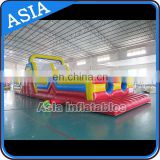 Giant adult and kids Inflatable 5K Race/ inflatable obstacle course equipment with slide for sale