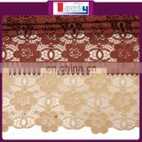 Elegant High Quality Brown Lace Fabric for wedding and party
