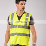 adult reflective vest cheap logo printed reflective security vest