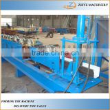 Colored Steel Construction Round Rain Gutter Machine/down pipe tile making machine/gutter downpipe production line