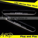 AKD Car Styling Toyota Camry V55 2014-2015 LED Moving Door Scuff New Camry LED Door Sill plate Camry V50 Side Step Cover Pedal