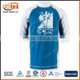 2016 SGS testing guarantee UPF 50+ boys rash guard swim shirt