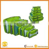 high quality Unisex 5 Piece Packing Cubes for travel,cheap wholesale green polyester travel packing cubes