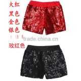 Sexy hip-hop jazz dance club girls singer hot short pants sparkling black /red sequin pants
