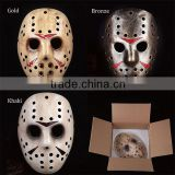 Factory High Quality Halloween Resin killer Jason Hockey Mask Freddy vs Jason Resin Mask Halloween Decoration And Gift Life size