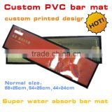 High quality super water absorbable bar mat, Rubber bar counter mat with custom printing                                                                                                         Supplier's Choice