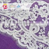 wholesale cheap nylon cotton african guipure lace fabric for dress flower embroidered in 2016