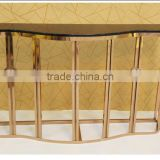 2016 Factory Supply Hot Sales Black Marble Metal Stainless Steel Console Table
