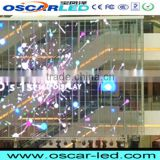 led wall curtain glass screen soft transparent glass led board shopping hall/building curtain advertising led display XR 16H
