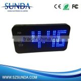 Portable Travelling Alarm Clock Power Bank with LED Light Display Power Bank