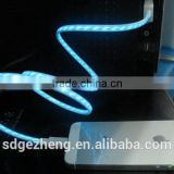 el data cable with glowing chasing light el wire usb cable micro usb 8pin lighting usb cbale led light for smartphones