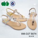 Popular style fancy lady's footwear summer new model sandal                                                                         Quality Choice
