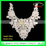eco-friendly feature water soluble Cotton Material embroidery design necklace For Garment Tailors
