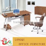 fashion modern simple stainless steel frame with three drawer cabinet with wheel computer desk clerk desk secretary office table