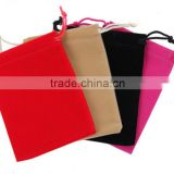Drawstring Sealing & Rope Handle and customized velvet bag