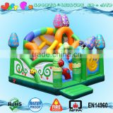 enchanted forest bouncing castles,colorful interactive inflatable bouncer,kids playground